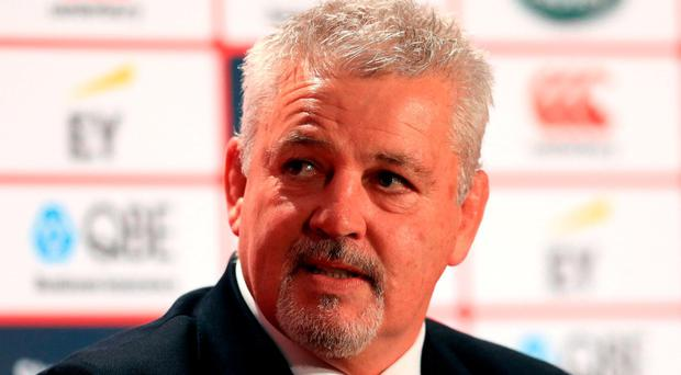 Lions head coach Warren Gatland Photo: PA
