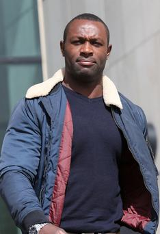 Francis Usanga leaving Dublin District Court yesterday. Photo: Collins Courts