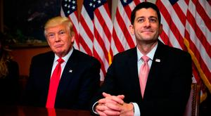 Donald Trump and Speaker of the House Paul Ryan Photo: Getty Images