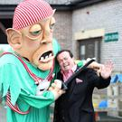 RTÉ's Marty Morrissey and Blathnaid Ní Chofaigh Photo: Damien Eagers