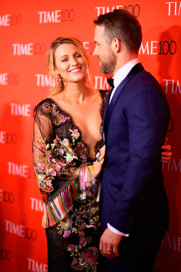 Actors Blake Lively (L) and Ryan Reynolds attend the 2017 Time 100 Gala at Jazz at Lincoln Center on April 25, 2017 in New York City. (Photo by Dimitrios Kambouris/Getty Images for TIME)