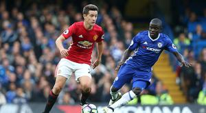 LONDON, ENGLAND - OCTOBER 23: Manchester United's Ander Herrera and Chelsea's Ngolo Kante during the Premier League match between Chelsea and Manchester United at Stamford Bridge on October 23, 2016 in London, England. (Photo by Rob Newell - CameraSport via Getty Images)