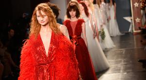Models walk the runway at the Jenny Packham show during New York Fashion Week: Bridal on April 21, 2017 in New York City. (Photo by Albert Urso/Getty Images)
