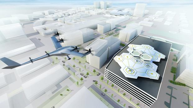 A future Uber Elevate networks facility