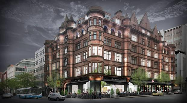 An artist's impression of the original hotel plan in 2013