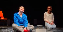 Scott Reid and Lucianne McEvoy in The Curious Incident of the Dog in the Night-Time