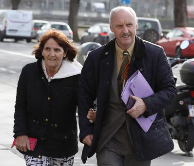 Patrick and Angela McMahon who appeared before the Circuit Civil Court in Dublin yesterday(Wed) in relation to their home at 1 Park Lodge, Laurel Lodge, Castleknock, Dublin. Photo: Collins Courts