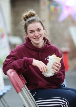 Maria Luttrell, from Scoil Chriost Ri, Portlaoise, pictured at the second annual HealthFest event at the RDS in Dublin. Photo. Robbie Reynolds