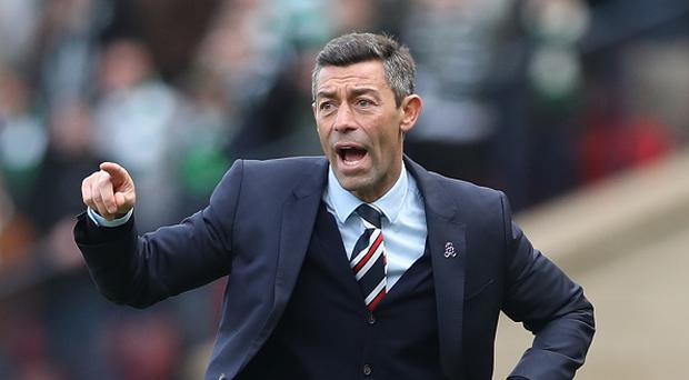 Pedro Caixinha manager of Rangers gives instructions during the Scottish Cup Semi-Final match between Celtic and Rangers at Hampden Park on April 23, 2017 in Glasgow, Scotland. (Photo by Ian MacNicol/Getty Images)