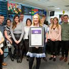 All smiles: Group Digital Editor Fionnuala O'Leary and the Independent.ie team with the award