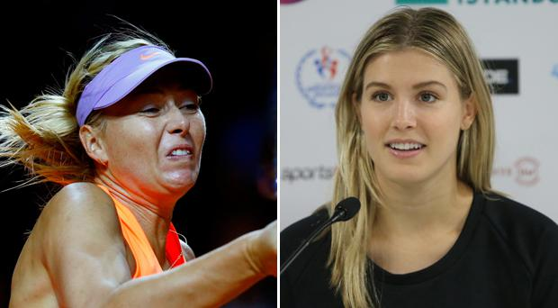 Maria Sharapova and Eugenie Bouchard set to do battle on court in Madrid on Monday night