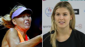 Maria Sharapova and Eugenie Bouchard