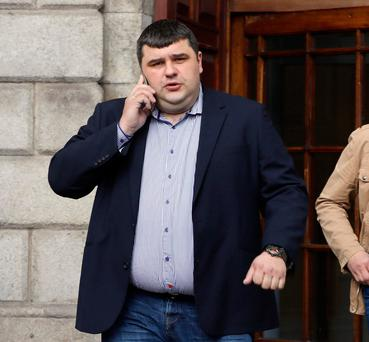 Janis Kapteinis leaving the Four Courts. Photo: Collins