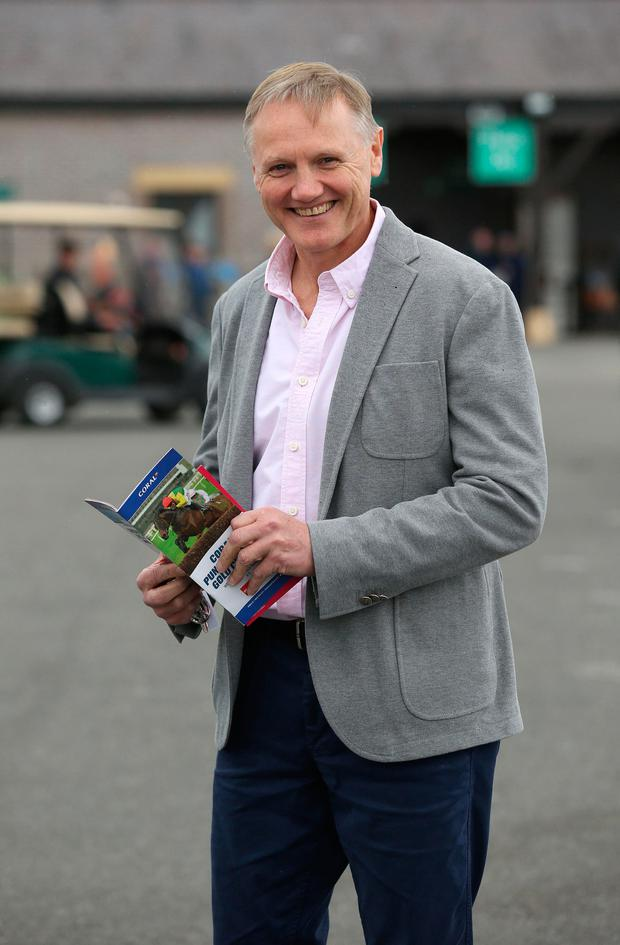 Ireland rugby coach Joe Schmidt at the races. Photo: Damien Eagers