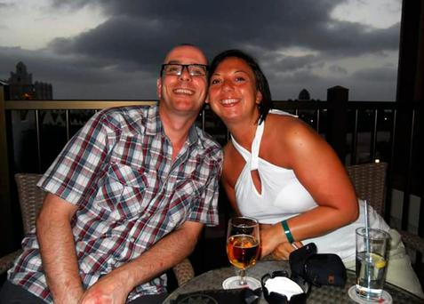 Claire Saywell, 42, with her husband David. Photo: Family handout/PA Wire