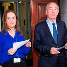 Dr Rhona Mahony and deputy chairperson of the board Nicholas Kearns at a meeting of the board of Holles Street last night. Photo: Arthur Carron