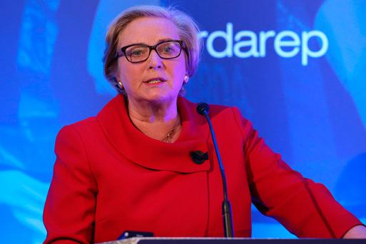 Tánaiste and Justice Minister Frances Fitzgerald addresses the GRA conference. Photo: Conor Ó Mearáin