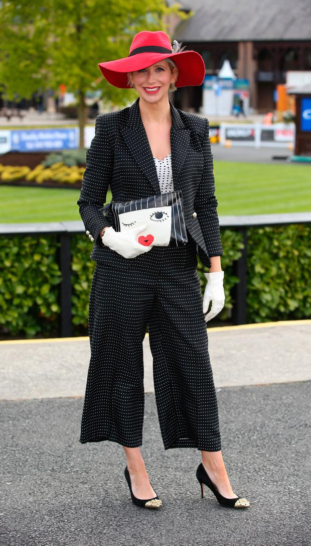 Aisling O'Loughlin, best dressed lady judge at the Punchestown races. Picture: Damien Eagers