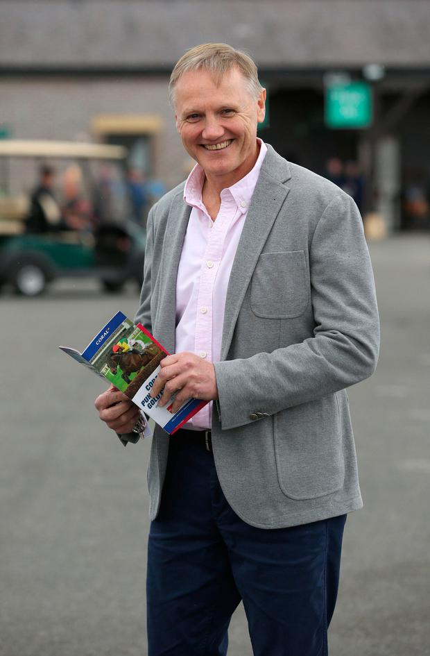 Ireland rugby coach, Joe Schmidt at the Punchestown races. Picture: Damien Eagers