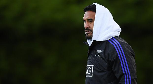 Jerome Kaino of New Zealand during New Zealand Rugby Squad Training at Garda RFC in Westmanstown, Dublin. (Photo By Stephen McCarthy/Sportsfile via Getty Images)