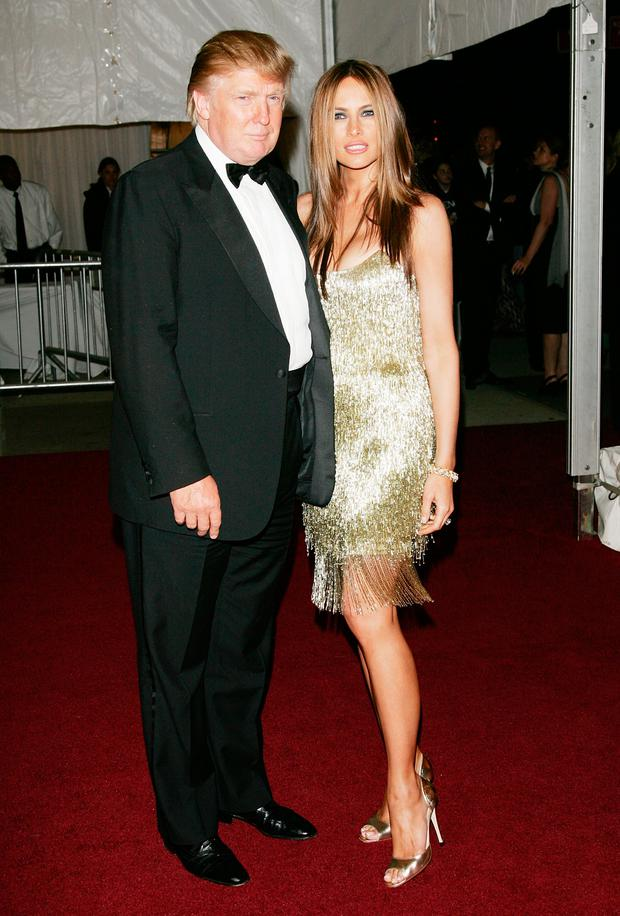 Donald and Melania Trump leaving The Metropolitan Museum of Art's Costume Institute Gala May 07, 2007 in New York City. (Photo by Evan Agostini/Getty Images)