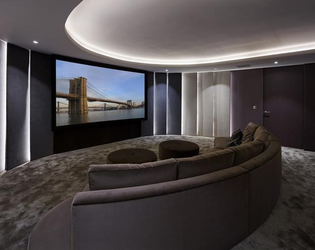 A home cinema in the £5m (€5.9m) mansion on the market owned by Cheryl Photo Credit: Godfrey and Barr Estate Agents