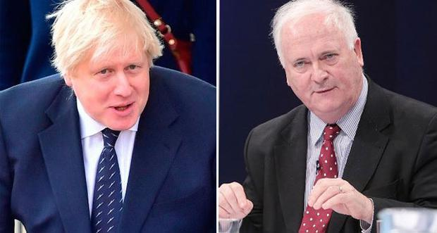 Boris Johnson and (right) John Bruton