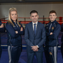 Bernard Dunne, centre, pictured at his announcement as the High Performance Director for Irish Athletic Boxing Association, with boxers, from left, Darren O'Neill, Christina Desmond, Brendan Irvine, and Joe Ward, at the Sport Ireland National Sports Campus in Abbotstown, Dublin. Photo by Seb Daly/Sportsfile