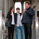 Sean Cooke leaves Cork Court with his parents Sharon and Declan Cooke Photo Michael Mac Sweeney/Cork Courts