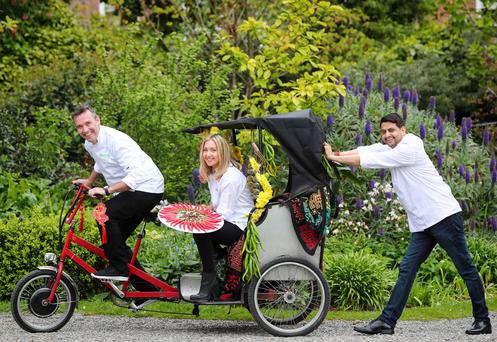 Pictured at the launch of Taste of Dublin 2017 are Kevin Dundon, owner of Dunbrody House, Aoife Noonan, Executive Pastry Chef at Luna and Sunil Ghai, Head chef at Pickle.