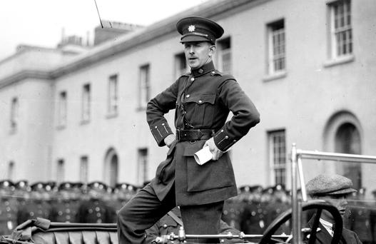 Garda Commissioner Eoin O'Duffy, who founded the Blueshirts