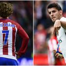 Antoine Griezmann (left) and Alvaro Morata (right).