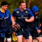 Leinster's Jack McGrath makes his way to squad training. Photo: Stephen McCarthy / SPORTSFILE