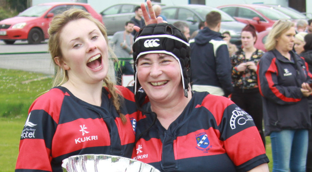 Mother and daughter Eileen and Elaine McCarthy who helped Bantry Bay capture the Women's Div 1 Plate