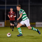 17 April 2017; Luke Byrne of Shamrock Rovers in action during the EA Sports Cup second round game between Shamrock Rovers and Bohemians at Tallaght Stadium in Tallaght, Dublin. Photo by David Maher/Sportsfile