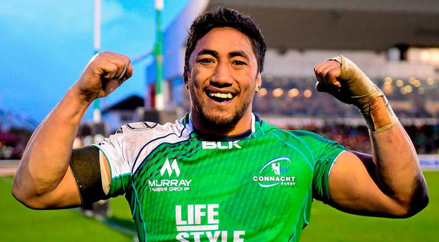 Aki will miss Connacht's remaining regular season games against Scarlets and Munster, but more importantly he will be banned for their crucial knock-out play-off. Photo: Ramsey Cardy / SPORTSFILE