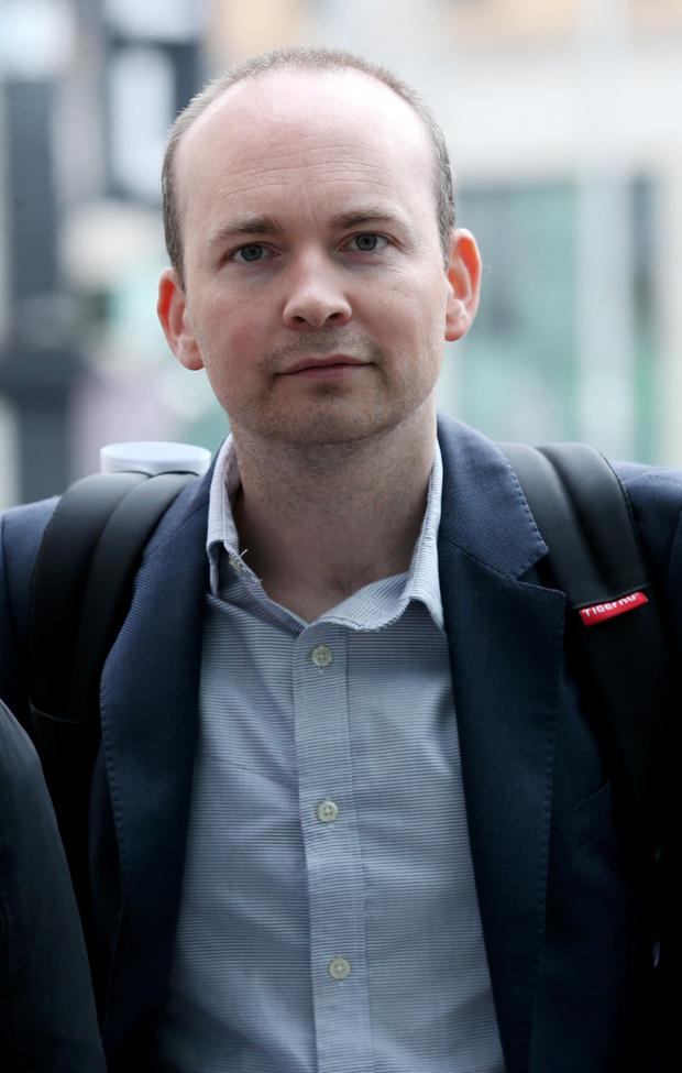 TD Paul Murphy outside court yesterday. Photo: Collins