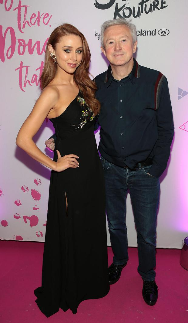 Una Healy and Louise Walsh at the Bank of ireland Junk Kouture Final at The 3Arena,Dublin. Pic: Brian McEvoy