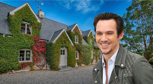 Hunter's Rest in Wicklow is 4,306 sq ft in an L-shaped footprint; inset Hollywood star Jonathan Rhys Meyers