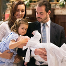 Princess Claire and Prince Felix of Luxembourg celebrated their son Prince Liam's baptism at the Vatican with their daughter Amalia. Photo: Cour grand-ducale / Lola Velasco