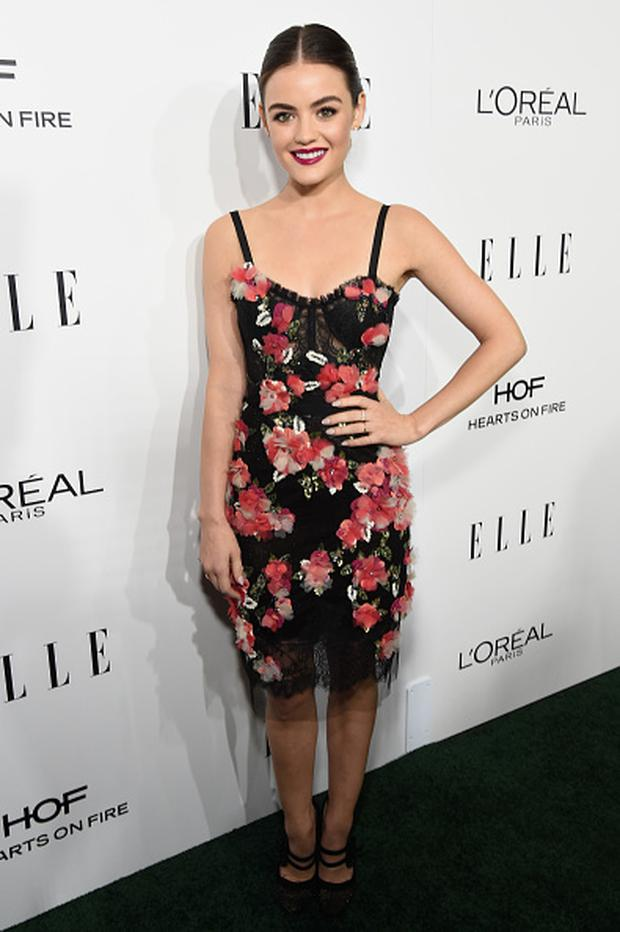 Actress Lucy Hale attends the 23rd Annual ELLE Women In Hollywood Awards at Four Seasons Hotel Los Angeles at Beverly Hills on October 24, 2016 in Los Angeles, California. (Photo by Michael Kovac/Getty Images for ELLE)