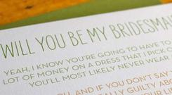 You in? Bridesmaid card by Colette Paperie at The Alchemy Shop