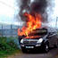 The car was later found burning near St Mary's Park, Navan
