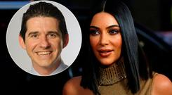 Dr John Curran (inset) believes Kim Kardashian had buttock augmentation using a technique called autologous fat grafting