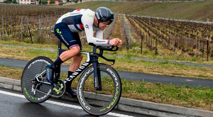Alex Dowsett from Britain of team Movistar in action during the 71st Tour de Romandie UCI ProTour cycling race in Aigle, Switzerland. Photo:Jean-Christophe Bott/ AP