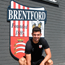 John Egan outside Brentford FC