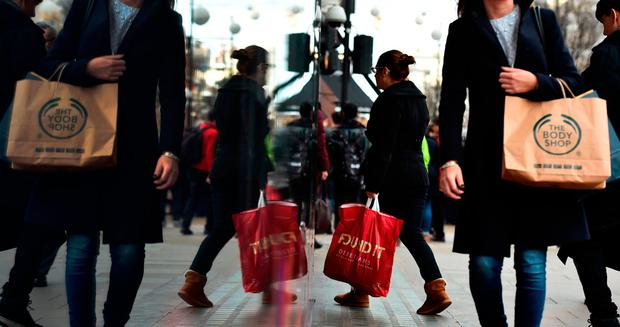 Main street stores are feeling the pressure from online. AFP Photo
