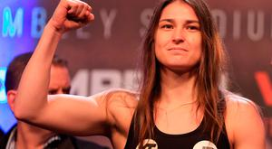 Katie Taylor at the weigh-in
