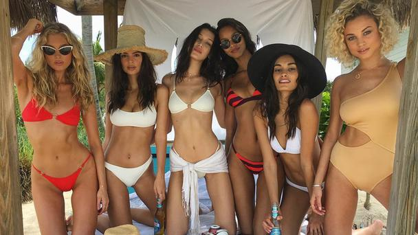 Elsa Hosk, Emily Ratajkoski, Bella Hadid and other supermodels promoting Fyre Festival