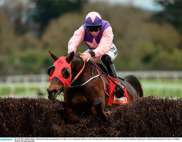Definite Ruby, with Jack Kennedy up, won at Punchestown